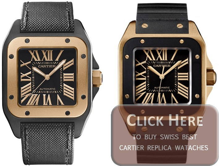 cartier santos 100 replica watches